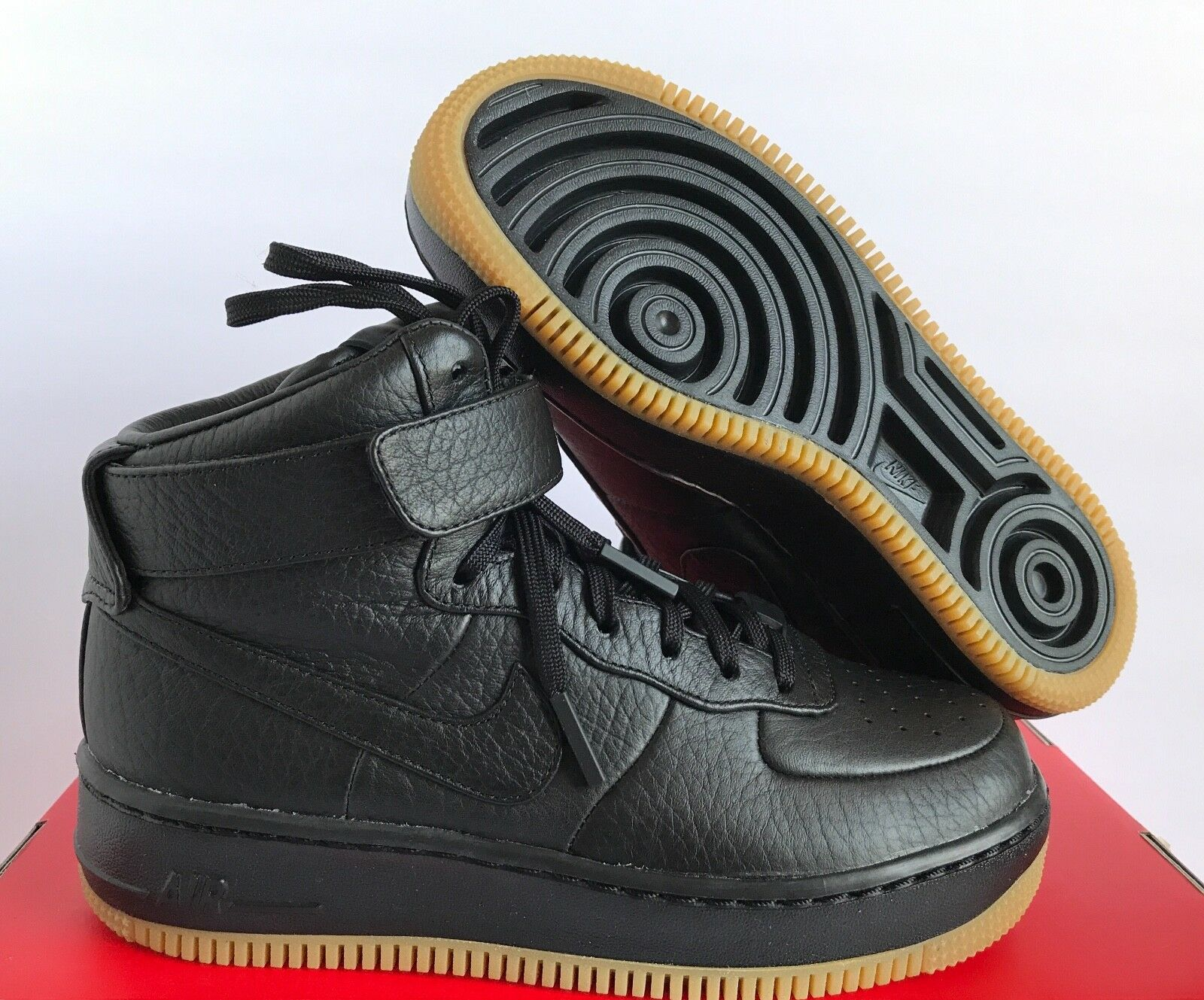 NIKE WOMEN AF1 AIR FORCE 1 UPSTEP HI PINNACLE BLACK-SAIL SZ 5