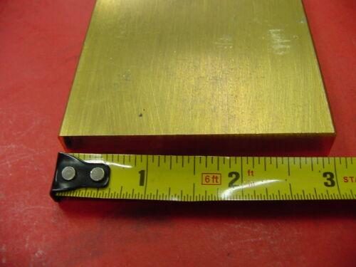 "1//2/"" x 3/"" C360 BRASS FLAT BAR 4/"" long Solid Plate Mill Stock H02 .50/"" x 3.0/""x 4/"""