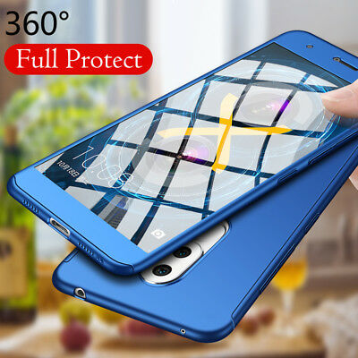 pretty nice 902a6 b1245 For Huawei GR5 2017 360° Full Cover Armor Hybrid Case+Tempered Glass  Protector