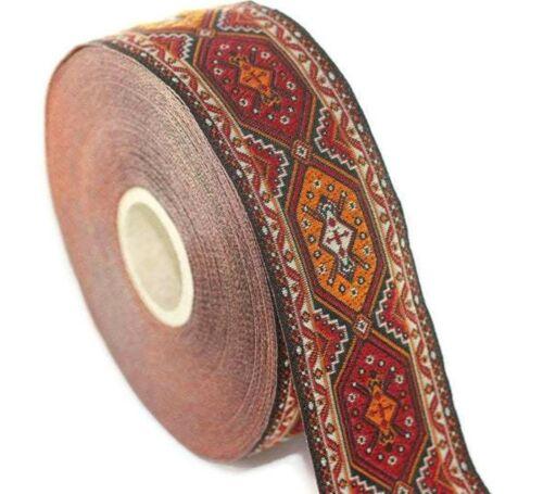 10 yard 10m Orange Woven Jacquard ribbon collar supply Sewing trim trim