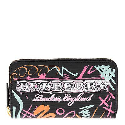 Burberry Women's Doodle Zip Around Wallet Black