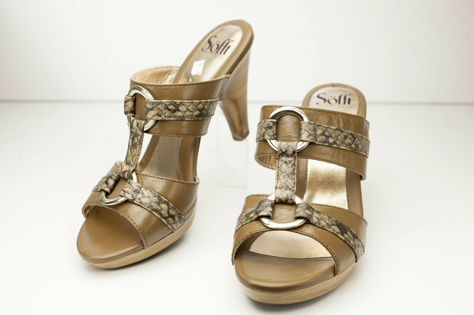 Sofft Size 9 Brown gold Sandal Women's