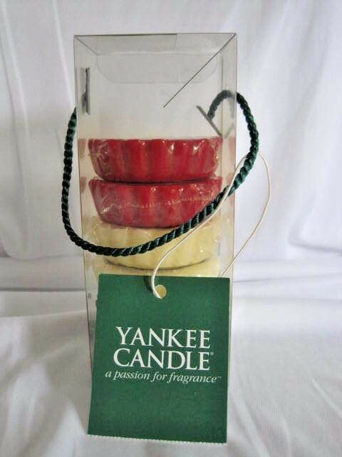 yankee candle chistmas t lite holders box of six