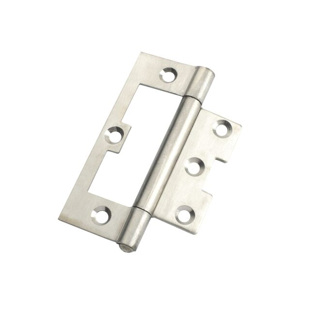 Zenith NON MORTISE HINGE Door FIXED Pin POLISHED STAINLESS STEEL- 100mm