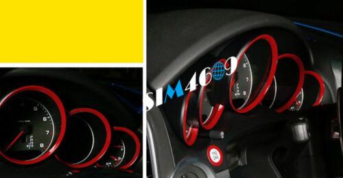 2011-2016 For Porsche Cayenne Good Red Interior Dashboard Meter Cover Trim 5pcs