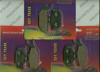 Bombardier Disc Brake Pads Ds650 2000-2006 Front & Rear (3 Sets)