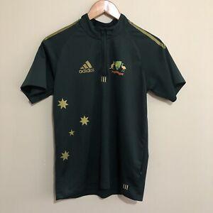 Cricket-Australia-Adidas-2008-ODI-One-Day-Polo-Shirt-Green-Youth-Boys-14