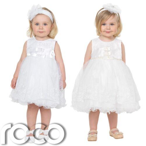 Flores Niña Vestidos Niñas Vestido Bebé niñas vestidos Bautizo Vestidos