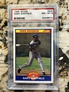 Details About 1989 Score Gary Sheffield Rookie Card Rc 625 Psa Graded Nm Mt 8