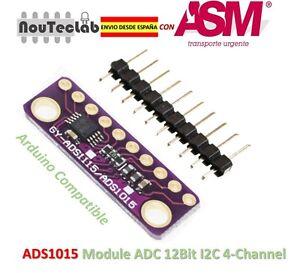 Details about I2c ads1015 12 Bit ADC 4 channel module programmable gain  amplifier- show original title