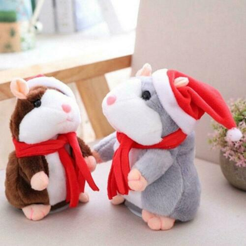 Talking Hamster Cute Xmas Gift Plush Toy Pet Chat Mouse Speak Sound Record