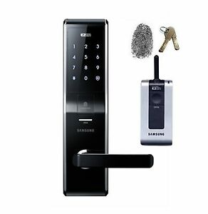 Image is loading Samsung-EZON-SHS-H700-SHS-5230-FingerPrint-Digital-  sc 1 st  eBay & Samsung EZON SHS-H700(SHS-5230) FingerPrint Digital Door Lock + ...