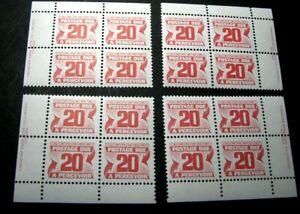 Canada-Stamp-Scott-J38-Postage-Due-1969-78-Marched-Blocks-MNH-H91