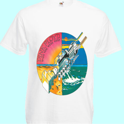 "7XL S NEW T-SHIRT /"" PINK FLOYD Wish You Were Here white /"" DTG PRINTED TEE"