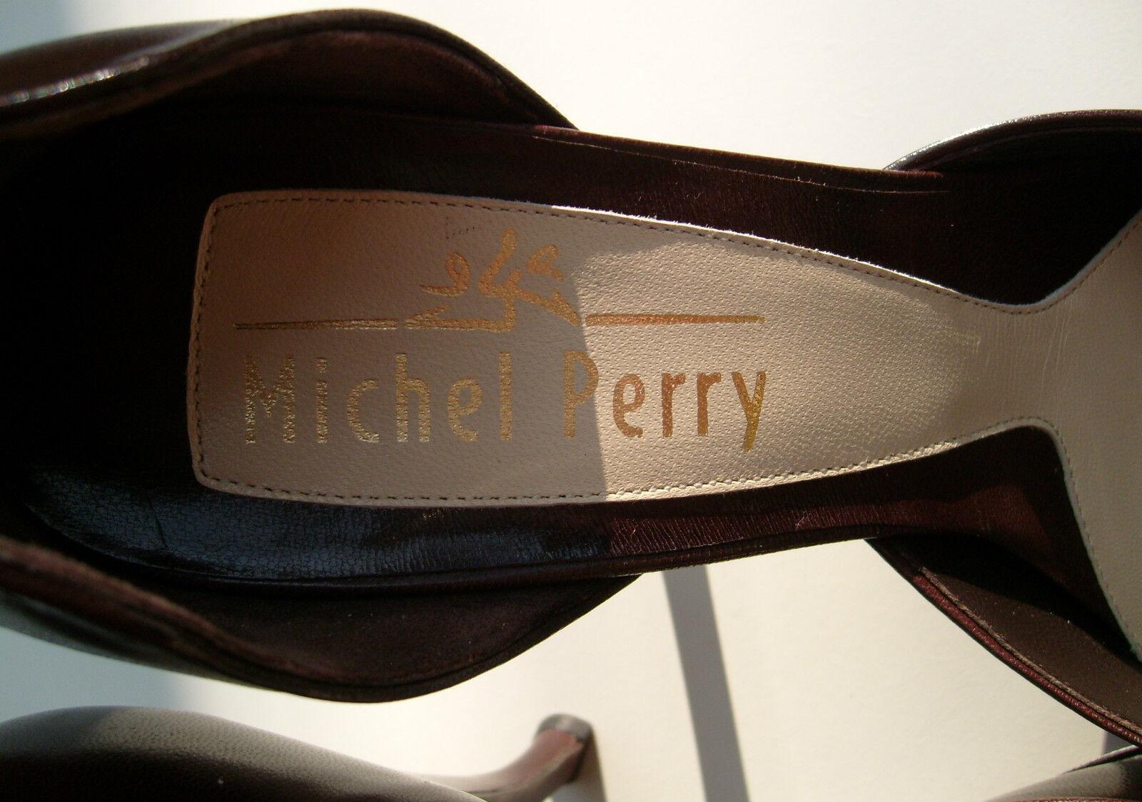Original Michel Perry  Echt Leder DAMEN Pump Art i d Gr 40.5 e v t l 41 Ung