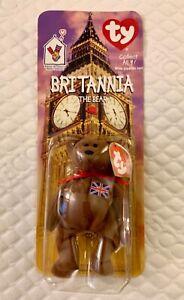 SEALED TY Beanie Baby Britannia The Bear McDonalds RARE W/ 2 TAG ERRORS FREE S/H