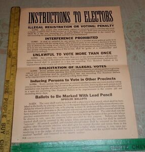 Vintage Voting Election Ballot Chad Puncher Dangling Chad