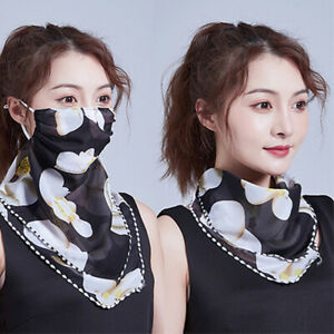 Chiffon-Lady-Cycling-Balaclava-Face-Neck-Mask-Scarf-Snood-Bandana-UV-Protection
