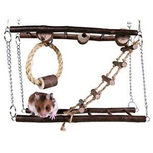 Trixie-pequeno-puente-colgante-de-Juguetes-para-Mascotas-Hamster-Raton-Jerbo-jaula-colgante