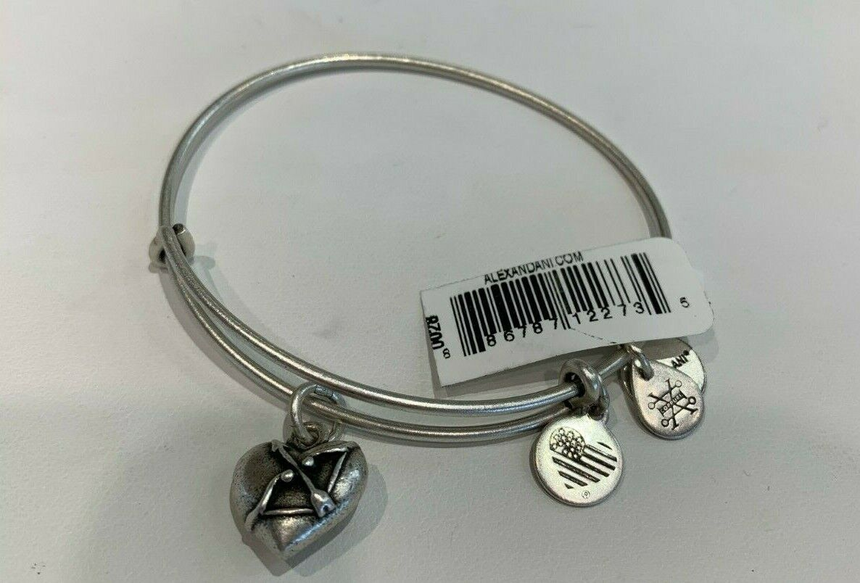 Alex and Ani Cupids Heart II Rafaelian Silver Charm Bracelet