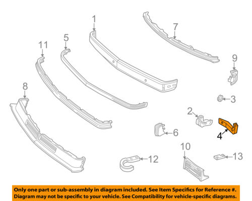 GM OEM Front Bumper-Face Bar Brace Left 15686149
