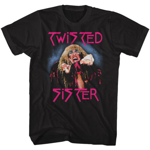 Twisted Sister Stay Hungry Album Cover Adult T Shirt Heavy Metal Music