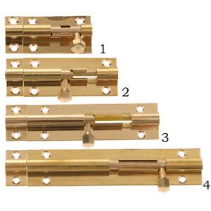 1 PC Door Slide Catch Lock Bolt Latch Barrel Home Gate Safety Brass W Screws BU1