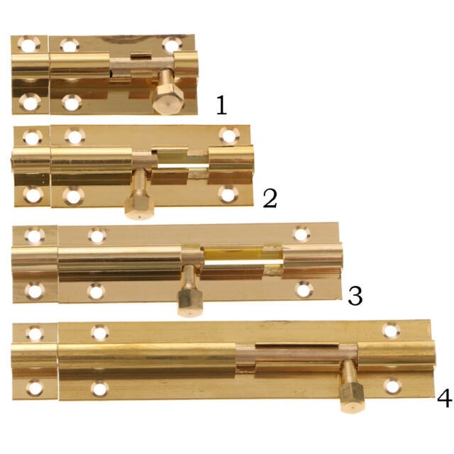 "Brass inch Door Side Action Closet Cabinet AjustLock 2.5/"" Barrel Bolt Lock"