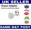3X EU 2-Pin European Euro Europe To UK Plug 3-Pin Socket Converter Adapter UK