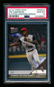 0121d9326 2018 TOPPS NOW PLAYERS WEEKEND BONUS TIM ANDERSON PWB-14 WHITE SOX ...
