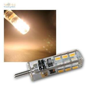 LED-Stiftsockel-Lampe-G4-24-SMD-LEDs-100lm-warmweiss-Leuchtmittel-G-4-12V-Birne