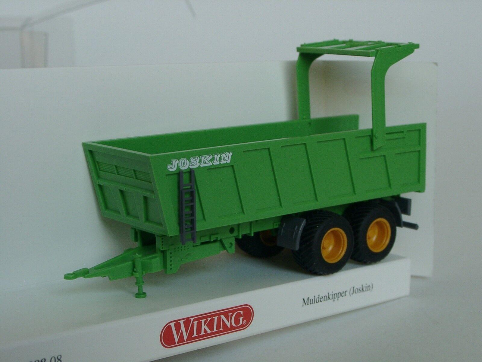 Wiking JOSKIN Muldenkipper, green - 0388 08 - 1 87