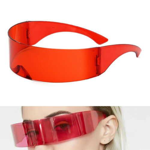 One Piece Shield Wrap Mirror Sonnenbrille Futuristic Glasses Prop