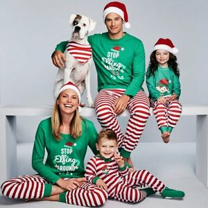 5ad81680bd35 Image is loading Family-Matching-Kids-Mom-Dad-Christmas-Pajamas-PJs-