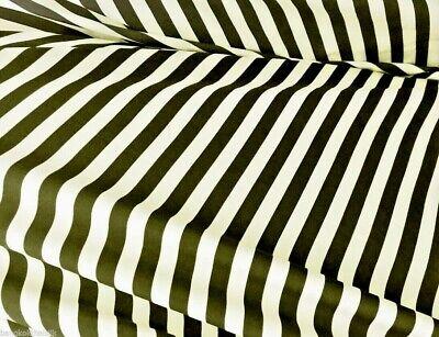 "1//2/"" Stripe Green White Matt Satin Fabric 60/""W Material Skirts Drapes Dresses"