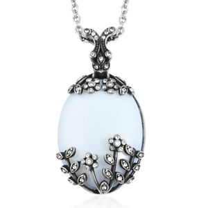 Chain-Pendant-Necklace-Stainless-Steel-Oval-Opalite-for-Women-Size-20-034-Ct-32