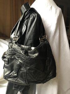 45c692ea60 KOOBA Large Black Leather Hobo Shoulder Bag Double Handle Purse LUXE ...