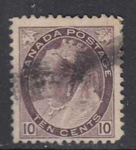 Canada-Scott-83-10-cent-brown-violet-034-QV-Numeral-034-F