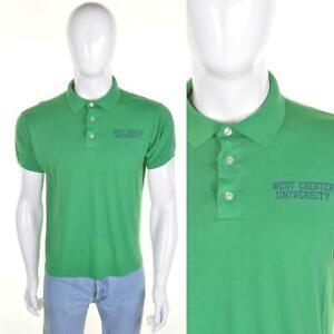 VINTAGE West Chester University Polo Shirt L WCU Preppy Mod WCUPA Golden Rams