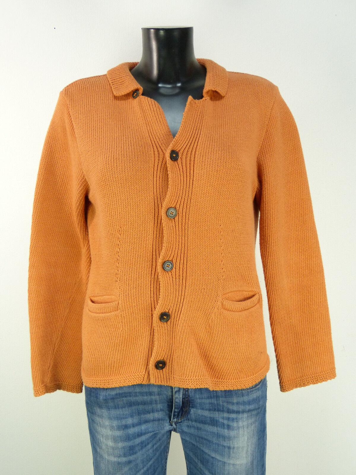 Omen Cardigan Donna Taglia M-DE Arancione & 100% COTONE (P (P (P 5598 R) fab64c