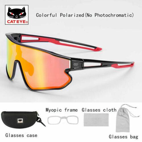 CATEYE Colorful Polarized Lense Cycling Sunglasses Eyewear with Myopia Frame