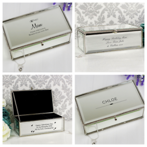 Details About Personalised Jewellery Box Mum Daughter Christmas Bridesmaid Valentines Day Gift