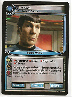 Star Trek CCG 2E These Are The Voyages Spock Science Officer 12R85