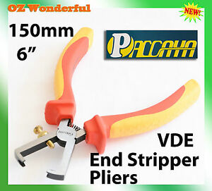 6-150mm-Electricians-Adjustable-Cable-Wire-Stripping-Strippers-Pliers-VED-1000V