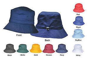 30f46afee72 Image is loading Adjustable-Plain-Bucket-Hat-Caps-With-Toggle-High-