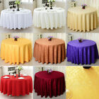 Round Polyester Tablecloth Seamless Wedding Party Table Cover 63 - 118 inch