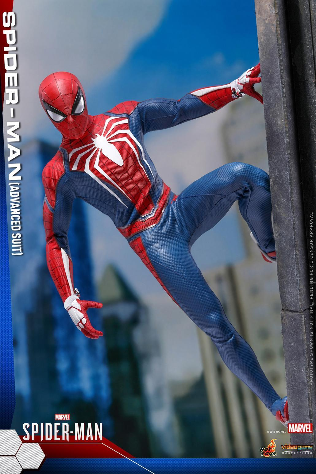 Hot Toys 1 6 VGM31 Marvel's Spider-Man Collection Action Figure (Advanced Suit)