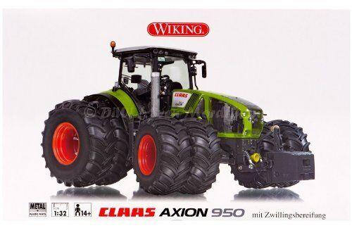 7328 Claas Axion 950  Pneus Jumelés, 1 3 2 Wiking  est réduit