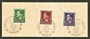 DR-Nazi-3rd-Reich-RARE-WW2-STAMP-Hitler-039-s-Fuhrer-Birthday-in-Occupation-Krakow