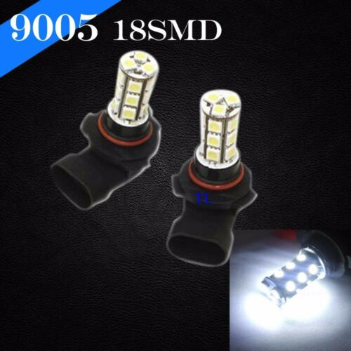 9005-HB3 Xenon LED 18 SMD White 6000K Headlight Light Bulbs #Ta90 High Beam